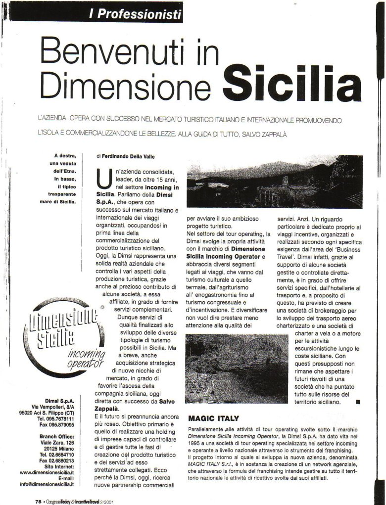 Dimensione Sicilia su Congress Day 2001