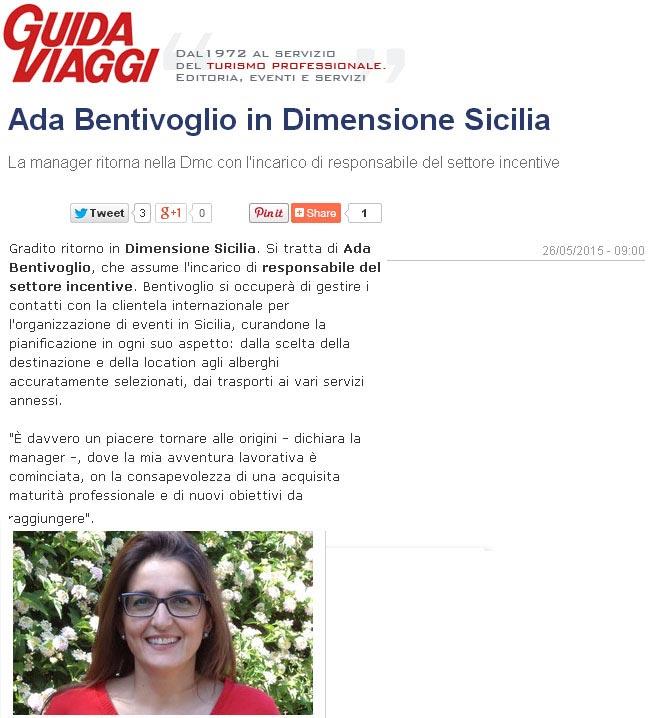 Dimensione Sicilia su Guida Viaggi del 26-05-15