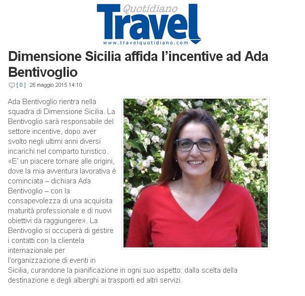Dimensione Sicilia su Travel Quotidiano del 26-05-15