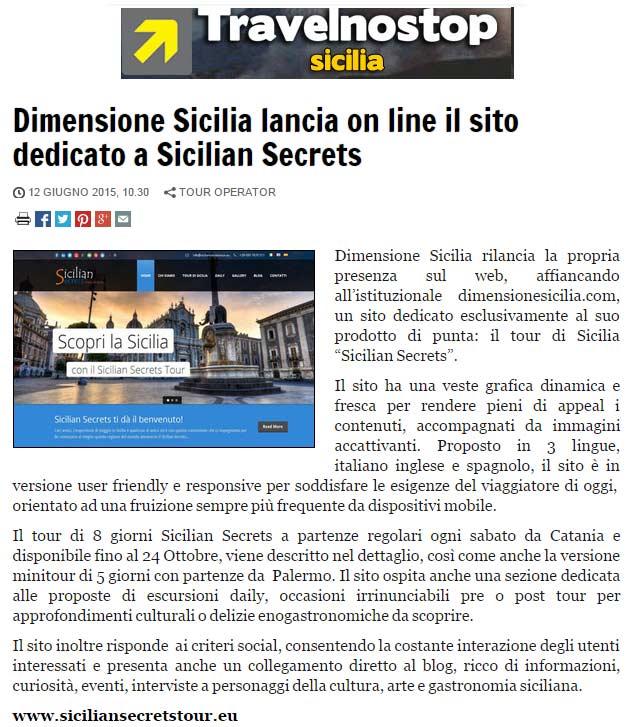 Dimensione Sicilia su Travelnostop del 12-06-15