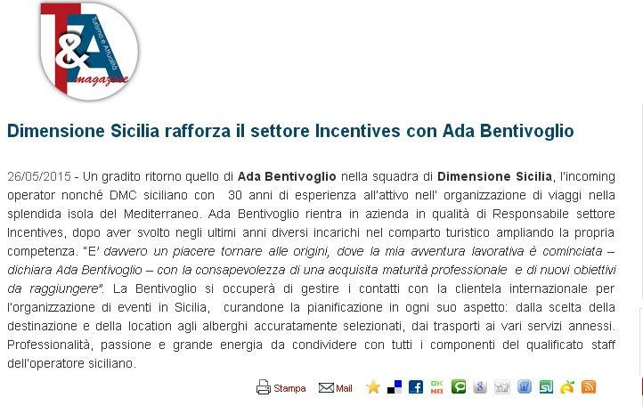 Dimensione Sicilia su Turismo&Aattualità del 26-05-15
