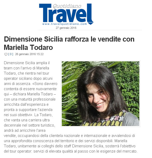 Travel Quotidiano del 26-01-16